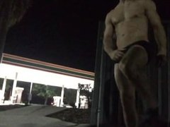 Stripping and Stroking outside of 7-Eleven