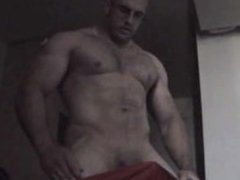 Verbal Straight Muscle Hunk Shoots Cum talking to girl