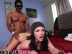 Divorced Andy San Dimas takes big black cock