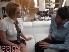 Krissy Lynn stalks her professor and goes to his home for better grades