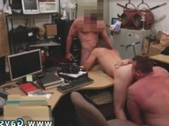 Free handy gay boy group jerking Guy finishes up with anal romp threesome