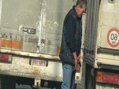 Trucker caught pee