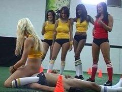 Pornstars fucking on the soccer field