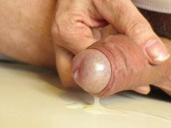 Soft cock cumming hands free