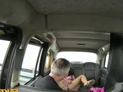 Fake taxi lady in pink