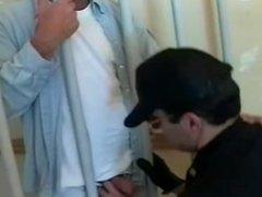 Police officer fucks prisoner bareback