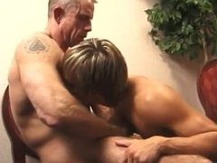 Police man barebacks a cute young twink