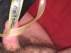 Edging with Liam's flip-flops & lots of cum (gay shoejob)