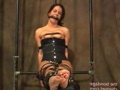 Kobe bondage nipple stimulation