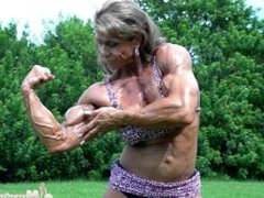 Sexy muscles big tits huge veins