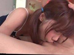 www.alise.webcam - Asian cute teen has a fat dick she sucks close up
