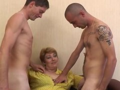 French mature Sophia fucked in a threesome