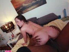 Petite Lola Foxx takes black dick pounding