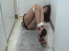 2 women tied in laundry room