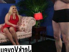 Lady voyeurs watching men masturbate