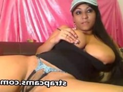 Big Tittied Latina Toying Fingering Under The Pants