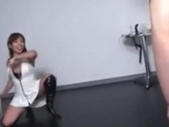 Lighthearted Asian Femdom Whipping