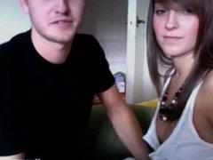 Loving brunette gives blowjob - Lickmycams.com