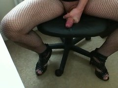 Sexy me in high heels and sweet cum