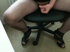 Sexy me in high heels and swwet cum