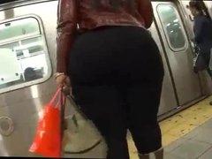 Big ass bbw on train