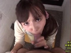 Mikami Yua bathroom blowjob bj cum shot Japanese CamAddix.com