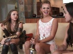 Dillion Harper, Jillian Janson and Aubrey Star Lesbian Games
