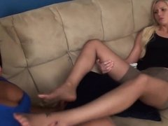 My Client Loves My Pantyhose Feet