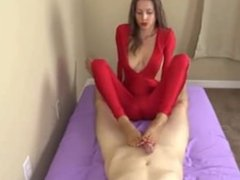 footjob and mastubation by a princess in red camzweb.com