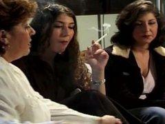 Mom and 2 smoking daughters