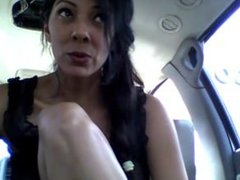 Horny woman from huntgirls.com gets wild in the car