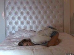 Natalia Forrest White Straitjacket on Bed