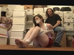 Bound and gagged girl