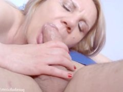 Sexy Blonde Milf Sucking Dick In 69
