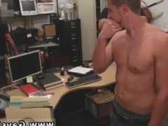 Gay twink wearing thong gets blowjob first time Guy completes up with