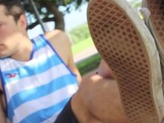 Ethan's Sockless and Bare Feet