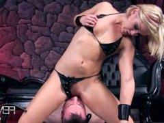 good slave licking her mistress