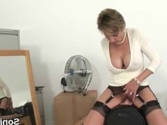 Cheating english mature lady sonia exposes her oversized knockers