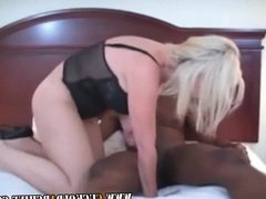 Cuckold Archive - Blonde cougar and her BBC bull Sissy hubby