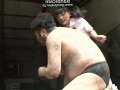 japan schoolgirl beats a guy