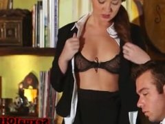 Hot office sex in late evening