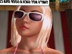 3D Daughter Footjob