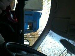 Jerking off for a trucker