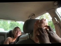 Car Tickling Volume 3: Willow's Sundress Soles Tickled