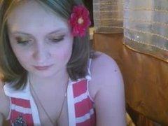 NN Russian webcam girl teasing on kitchen