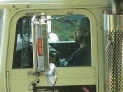 Trucker jerking off in rig