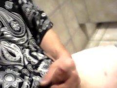 Masturbates in public bathroom part 3