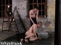 Old fat gay guy dick movies first time Chained to the warehouse floor and