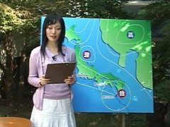 Japanese Weather Girl Bukakke