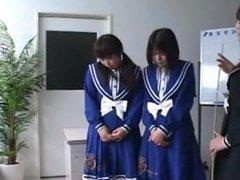 Spanking schoolgirl asian